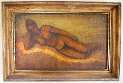 LEÁRAZTAM! Eredeti Réti Mátyás olaj festménye, Akt