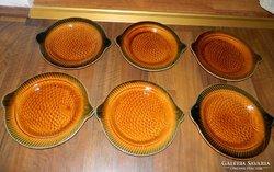 Sarraguamines majolika halas tányér készlet