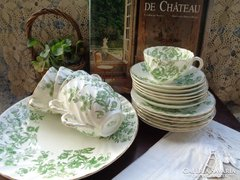 Majolika teás szett,sütis tányérokkal !! Henry M Williamson