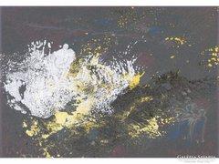 0E798 Régi jelzett modern absztrakt festmény