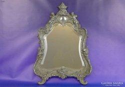 0E997 Antik krómozott öntöttvas tükör