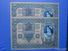 XF++ / aUNC sorkövető 1000 korona 1902