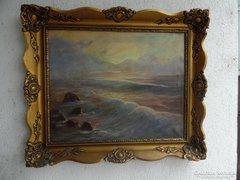 Kárpáty Jenő tengeres festménye.