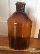 34 cm-es, régi patika üveg, dugóval