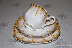 Szecessziós Royal Albert kézzel festett teás trió
