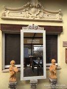 Provence bútor, antikolt fehér tükör 40.