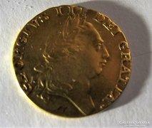 GEORGE III 1787 GOLD SPADE GUINEA 8.3g arany