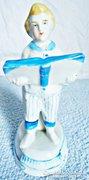 Angol porcelán, figurális tolltartó