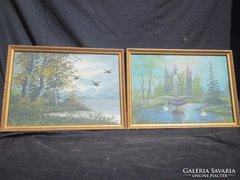 2 db akvarell ké szép állapotban van olcsón 37x27 cm