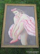 Nagyméretű balerina olaj vászon