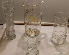 Art deco üveggyűjtemény 4 db