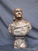 Nagy méretű Liszt Ferenc mellbüszt, 34 cm magas