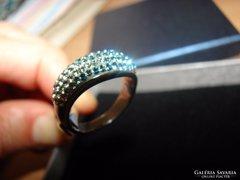 925 ezüst gyűrű  Swarovski kristályokkal díszített