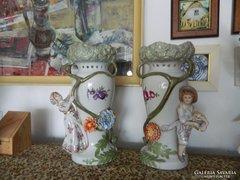 Hatalmas nápolyi porcelán váza pár