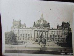 BERLIN REICHSTAG a BISMARCK Emlékmü -vel 1930 FOTÓ