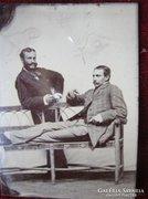 Dagerrotípia FOTÓ FÉNYKÉP FÉRFIAK kb. 1868
