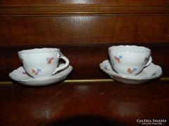 Aquincumi barokk mintás kávés csésze pár alátéttel