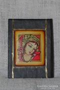 Női portrés tükör kézi táskába  ( 0032 )