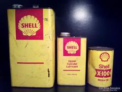 SHELL olajos kannák- motor olaj flakon