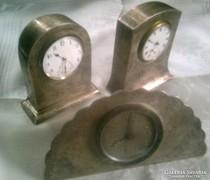 Szecessziós / art-deco nagyon RITKA ezüst, jelzett angol óra 3 db