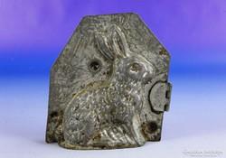 0F262 Antik jelzett MAYER nyuszi csokiöntő forma