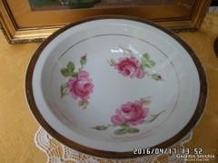 Rózsás porcelán köretes tál