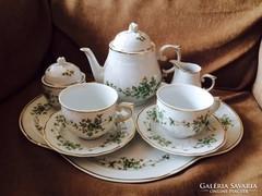 Hollóházi Erika mintás reggeliző szett - teás