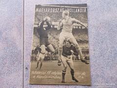 Magyarország-Hollandia. 1961. Program