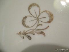 125. 4 db aranyozott virág mintás süteményes tányér