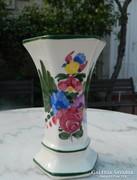 Antik kézzel festett fajansz váza