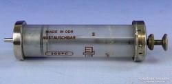 0F203 Régi német üveg orvosi fecskendő 20cm3