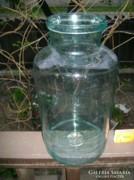 Régi hat literes türkiz befőttes üveg