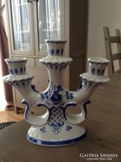 Régi Orosz kézzel festett porcelán gyertyatartó