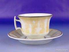 0F572 Antik vastagfalú porcelán teás csésze