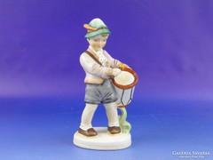 0F618 Régi SITZENDORF porcelán dobos fiú szobor