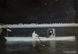 0F624 Antik lemez hajózás fotográfia üvegnegatív