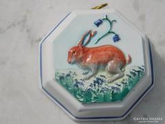 Original Bassano Handarbeit Italy porcelán falikép