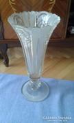 Hatalmas kristály váza - padlóváza