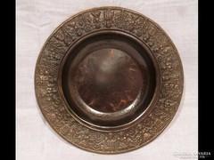 1644 Iparművészeti fém tányér