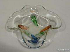 3310 Régi művészi üveg asztali kínáló tál