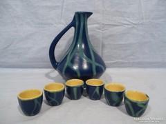 4711 Retro kerámia kínáló + 6 pohár