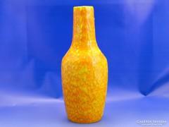 0A234 Retro folyatott mázas kerámia váza