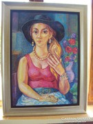 Józsa János Női portré