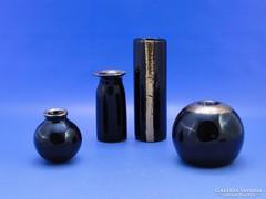 0C337 Aranyozott művészi kerámia váza szett 4 db