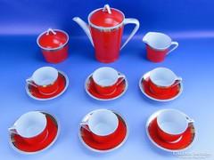 0D829 Régi retro Hollóházi porcelán kávéskészlet