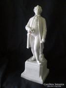 XIX. sz. végéről Sevres biszkvit Goethe talapzaton