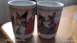 Zsolnay Hófehérke gyermek pohár bögre pár