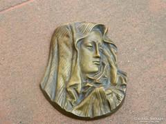 Réz Szűz Mária plakett