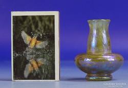 0D104 Antik Tiffany jellegű vázácska 5 cm