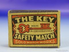 0G432 Antik gyufásdoboz SOLO MATCH WORKS